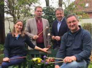 Dienstjubiläen von Sabine Schmitt und Dirk Carstens in der Kreismusikschule Schleswig-Flensburg im April 2018