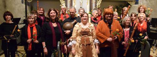 Satruper-Blockflöten-Ensemble Marien in der Kirche Grundhof am 4.10.2015