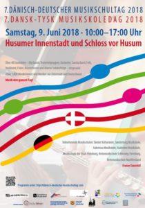 Plakat vom Dänisch-Deutschen Musikschultag am 9. Juni 2018 in Husum