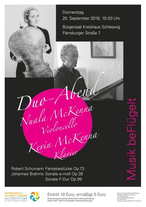 Musik beFlügelt 20.9.2018 Duo-Abend McKenna