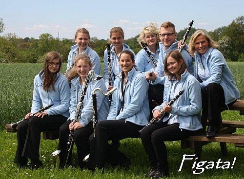 Satruper Klarinetten-Ensemble 'Figata!' im Jahr 2013