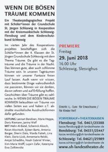 Theater-Projekt 'Wenn die bösen Träume kommen' Schleswig