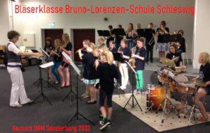 Bläserklasse der Bruno-Lorenzen-Schule Schleswig - Leitung Regina Trenktrog