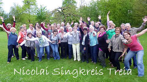 Der Chor Ensembles-Nicolai Singkreis Treia im Jubliäums-Jahr 2014