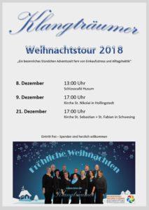 Plakat Weihnachtstour Dezember 2018 'Klangträumer'