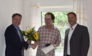 Verabschiedung von Woflfgang Siegmund durch Schulleiter Willi Neu und Dirk Wenzel (Leiter der Kulturstiftung)