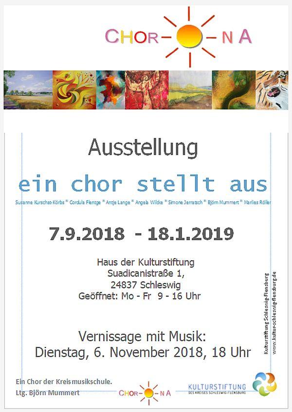 Ausstellung der Künstlerinnen und Künstler vom Chor-O-Na