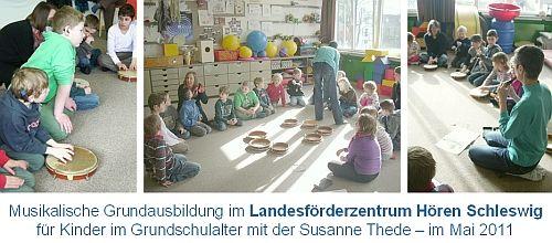 Musikalische Grundausbildung im Landesförderzentrum Hören Schleswig im Jahr 2011