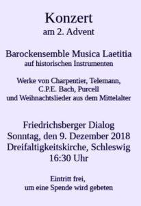 Konzert Musica Laetitia Dreifaltigkeitskirche SL