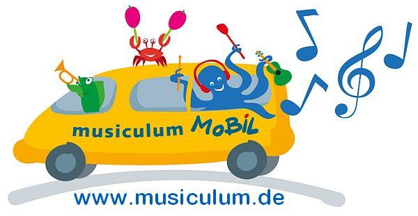 Das musiculum MOBIL ist ein großer, bunter Transporter, der mit Musikinstrumenten, Spielen und Klangexponaten ausgestattet ist. Ausprobieren der Instrumente steht ebenso im Fokus wie die Vermittlung von Wissen: Wie heißen die Instrumente? Wie entstehen Klänge?
