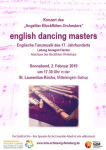 2. Februar 2019 - Konzert ABO nach Blockflöten-Workshop in Mittelangeln-Satrup