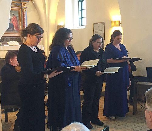 Konzert 'Stabat Mater' in Großsolt, die Sängerinnen
