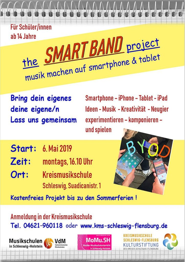 "Plakat ""SMART BAND project"" Schleswig 2019"