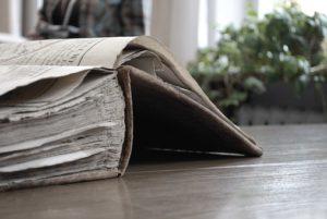 Aufgeschlagenes altes Buch